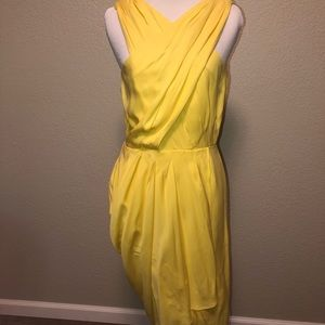 Banana republic dress sexy holiday yellow 6